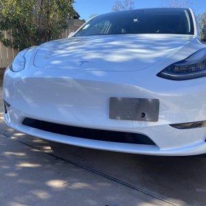 License Plate Holder | 2020+ Tesla Model Y – ZL1Addons