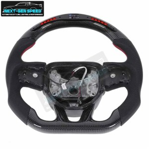 LED RPM Carbon Fiber Steering Wheel | 2015 – 2021 Dodge Charger/Challenger