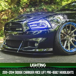 Face Lift Pre-Built Headlights | 2011-14 Dodge Charger – Lighting Trendz
