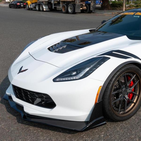 Carbon Flash Stage 3.5 Extended Front Splitter   2014-19 Corvette C7