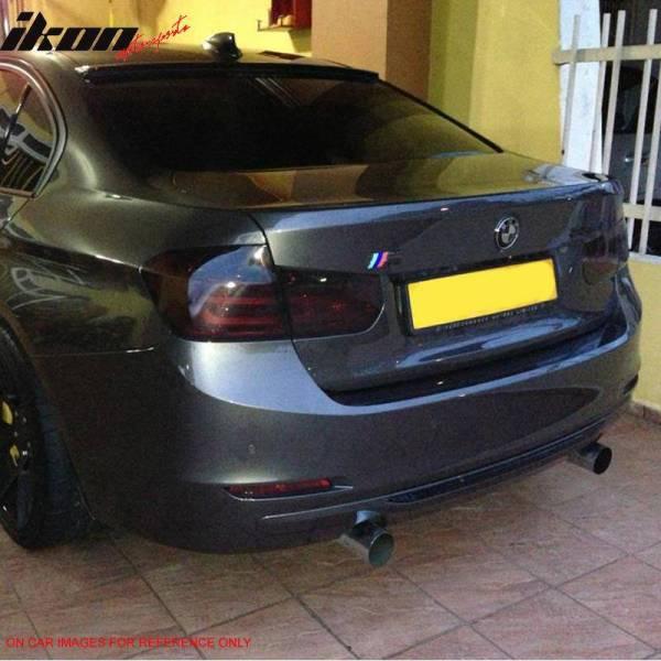 Matte Black Roof Spoiler | 2012-18 BMW F30 Sedan