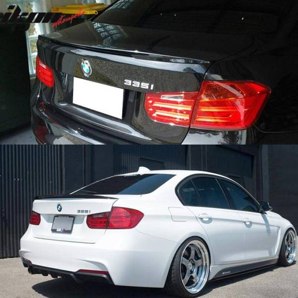 Matte Black Performance Trunk Spoiler   2012-18 BMW F30