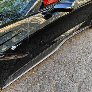 Z06 Conversion Side Skirts Rocker Panels   2014-19 Corvette C7