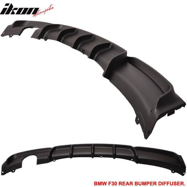 MT Rear Bumper Lip Diffuser With Single Outlet   2012-18 BMW F30