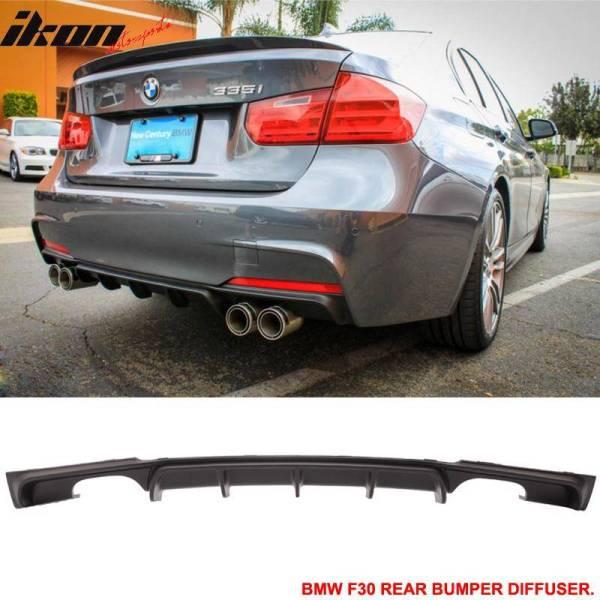 MP Rear Bumper Diffuser Lip Quad 4 Exhaust Tips | 2012-18 BMW F30