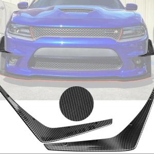Carbon Fiber Front Bumper Canards  | 2015 – 2021 Dodge Charger SRT