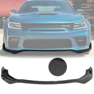 Charger Widebody Carbon Fiber Front Bumper Lip 3PC  | 2020 – 2022 Dodge Charger