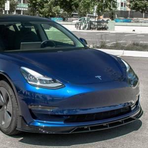 Gloss Black Performance Front Splitter | 2017+ Tesla Model 3