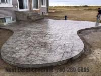 Stamped Concrete Patio - Next Level Concrete Ltd
