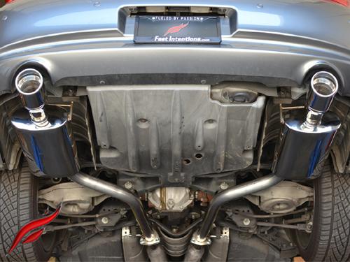 fast intentions catback exhaust infiniti g35 g37 sedan