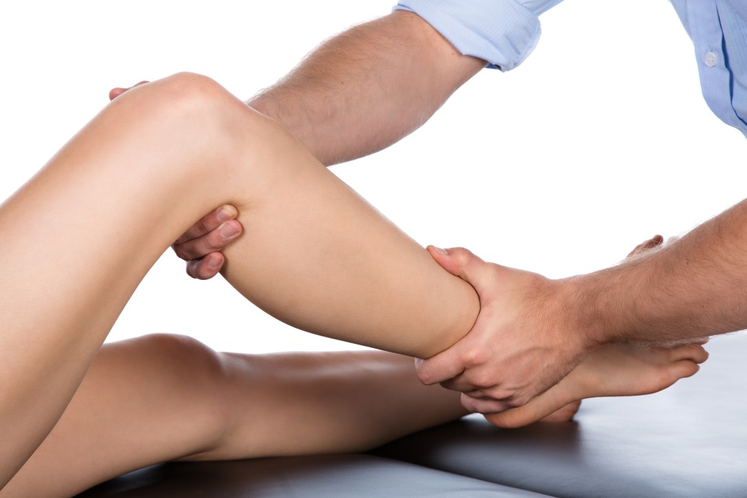 Assessing a Sports Physiotherapy leg issue.