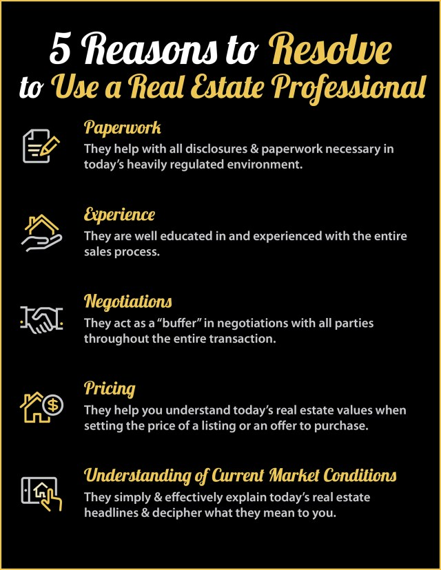 Buying or Selling in 2018? 5 Reasons to Resolve to Hire a Pro [INFOGRAPHIC]   Simplifying The Market