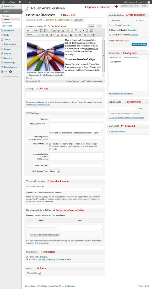 WordPress Artikel erstellen