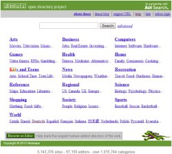 Dmoz / Open Directory Project