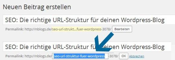 Wordpress Artikel: URL anpassen und bearbeiten