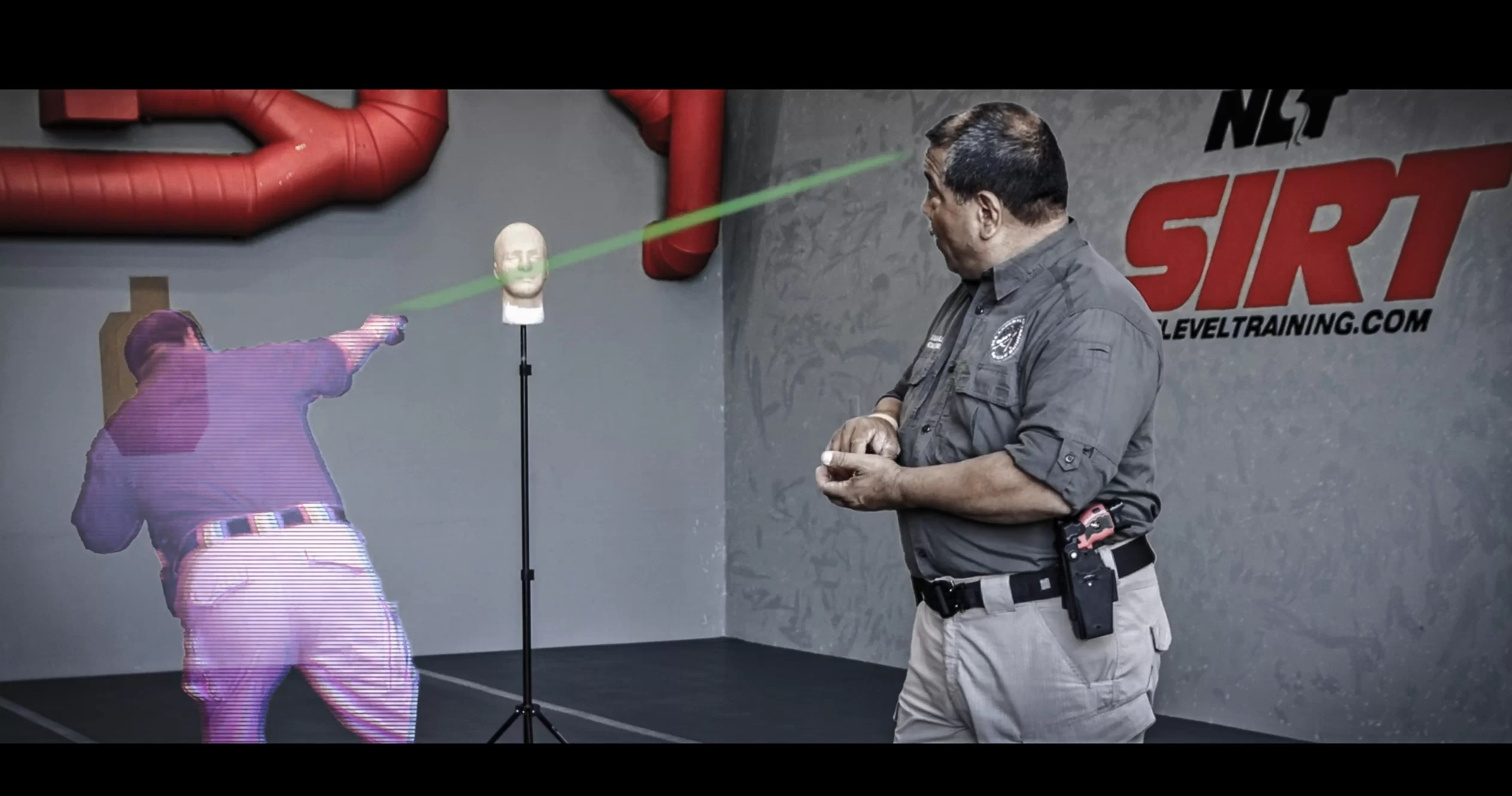 Mitigating liability when shooting a lethal threat. Showing upward trajectory of bullet
