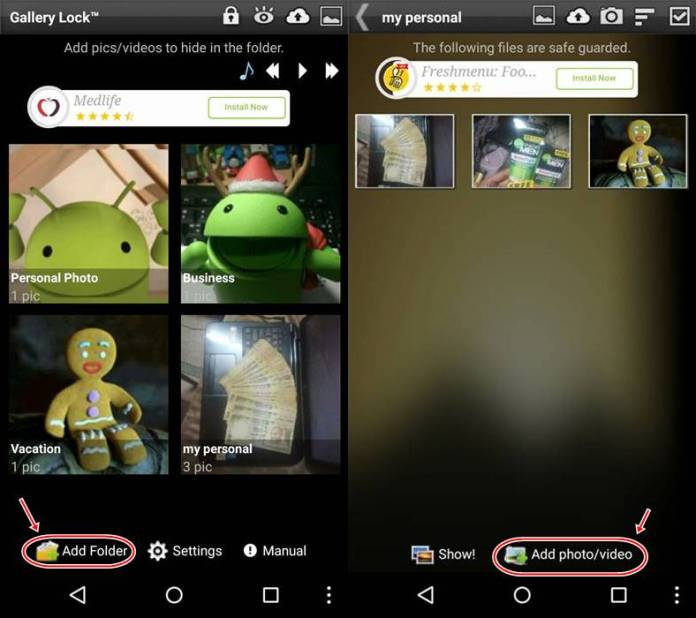 Hide Gallery Photos in Android