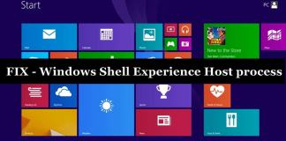 Windows Shell Experience Host process using too much Memory / CPU