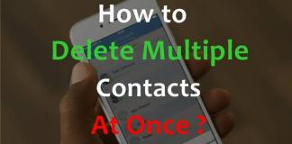 How to Delete Multiple contacts at Once in iPhone