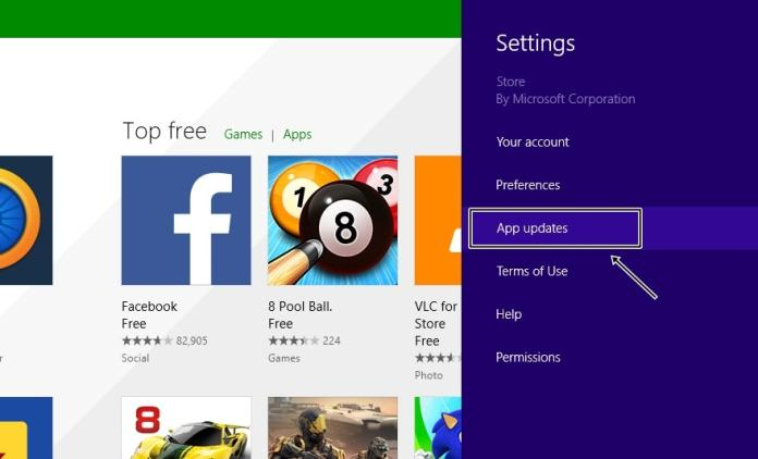 Stop Automatic App Updates in Windows 8.1