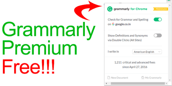 Grammarly Premium for Free on 2018
