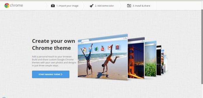 Create Your Own Google Chrome Theme