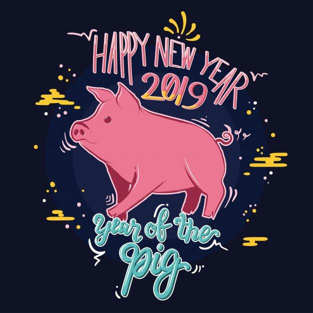 Bonne année sous le signe du cochon