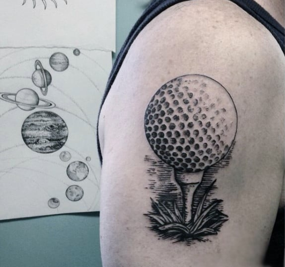 golf ball drawing