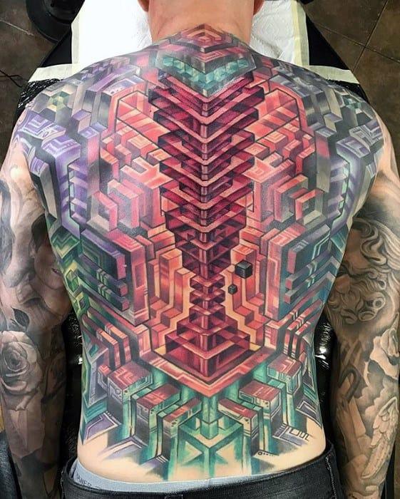 geometric tattoos men
