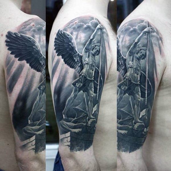 Guardian Angel Warrior Tattoo Designs