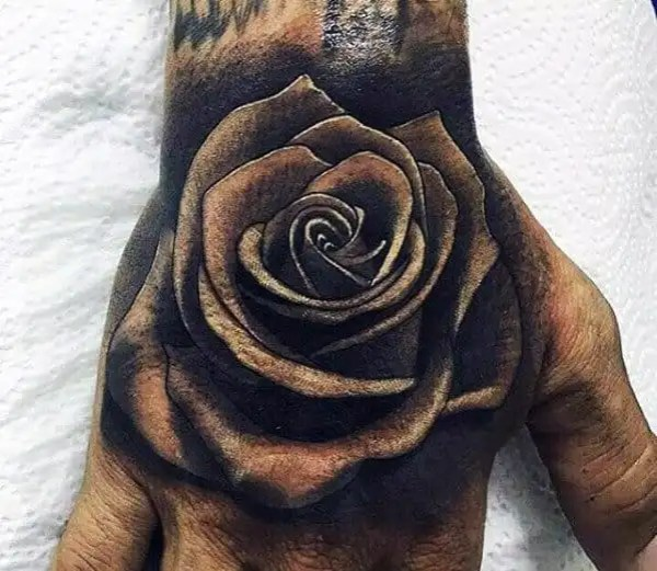 20 Beautiful 3d Flower Hand Tattoos Ideas And Designs
