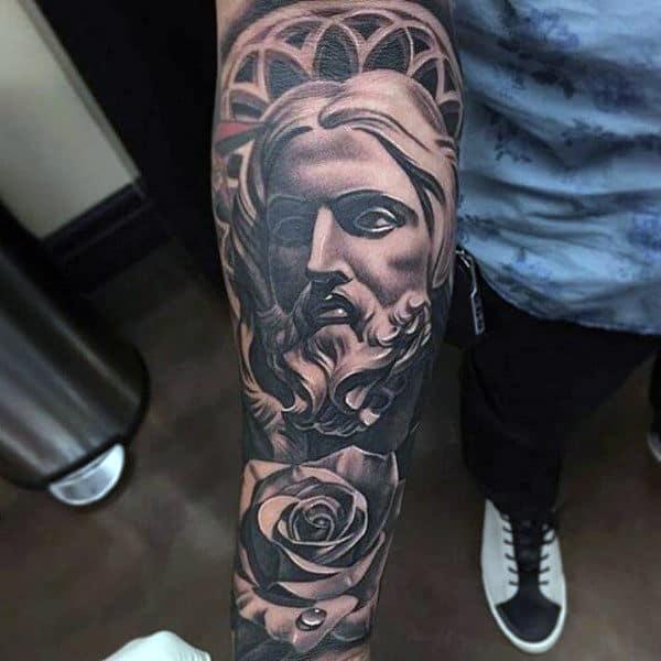 religious tattoos men