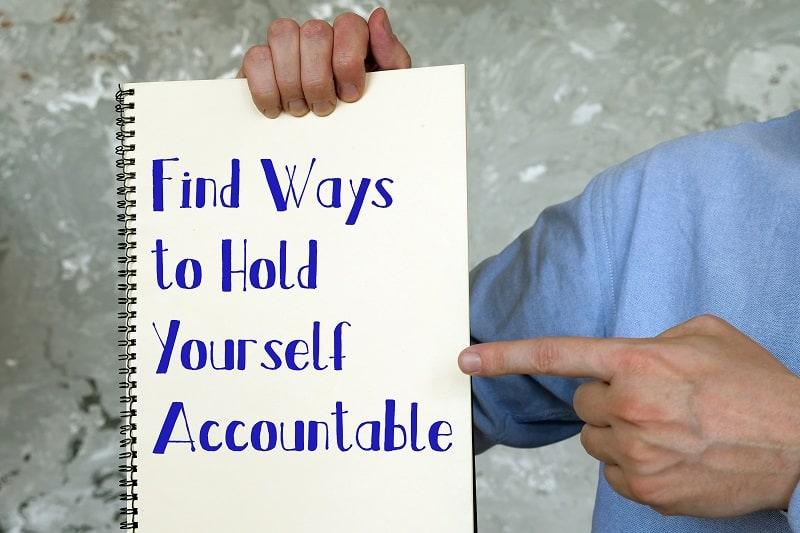 Make yourself accountable - Successful businessman