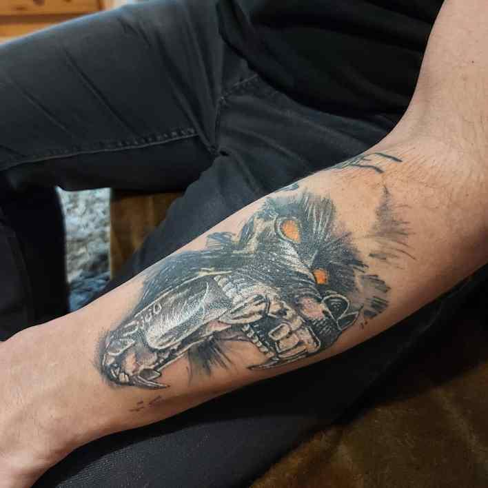 Monkey Forearm Tattoo -relja_tattoo
