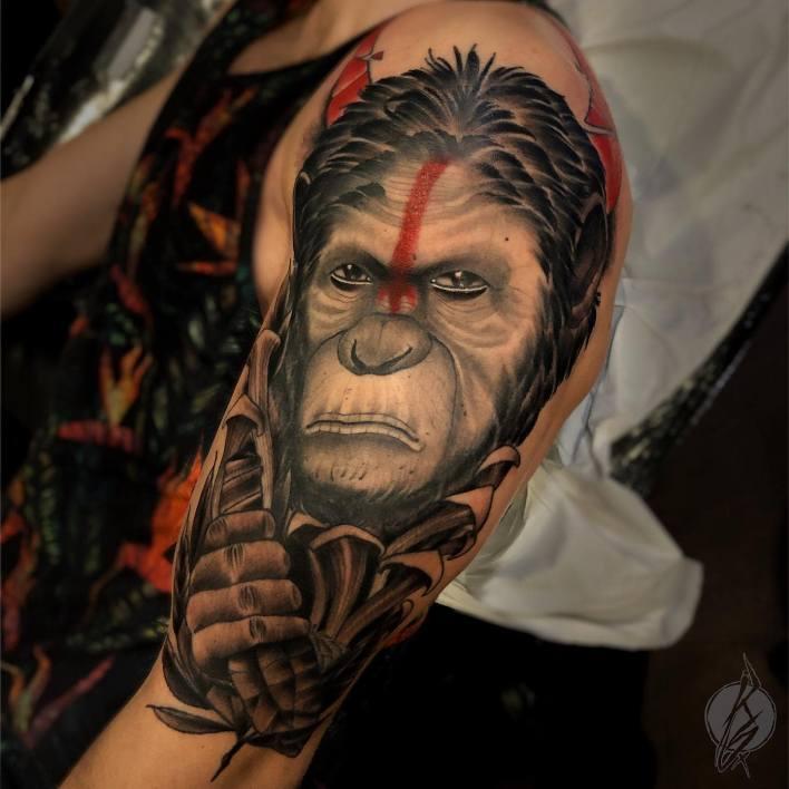 Monkey Shoulder Tattoo -kodeart