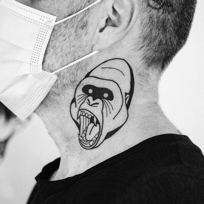Small Monkey Tattoo -yogixiii