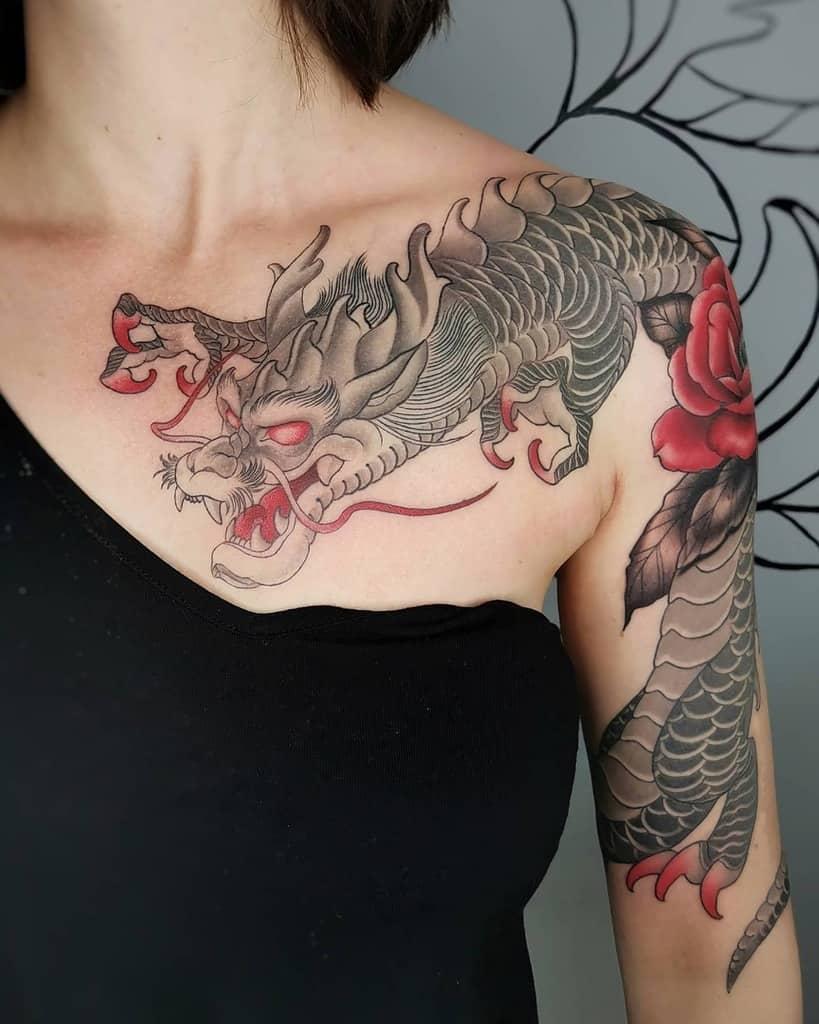 Arm Dragon Tattoo : dragon, tattoo, Dragon, Tattoos, Women, [2021, Inspiration, Guide]