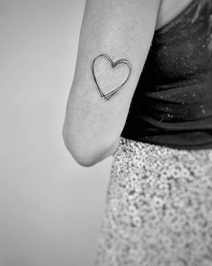 Black And White Heart Tattoo : black, white, heart, tattoo, Black, Heart, Tattoo, Ideas, [2021, Inspiration, Guide]