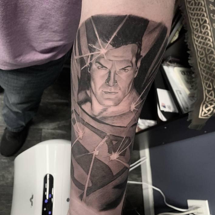 Black Superman Tattoo -dgtattoos