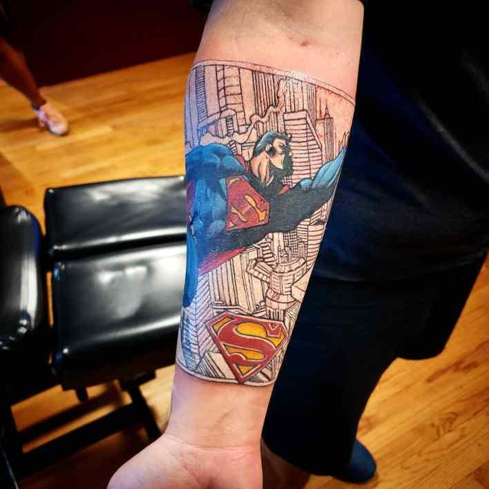 Superman Forearm Tattoo -irishjaytattooer