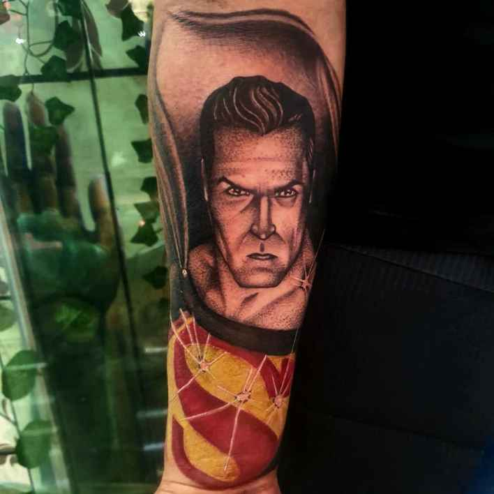 Superman Forearm Tattoo -luchoinkk