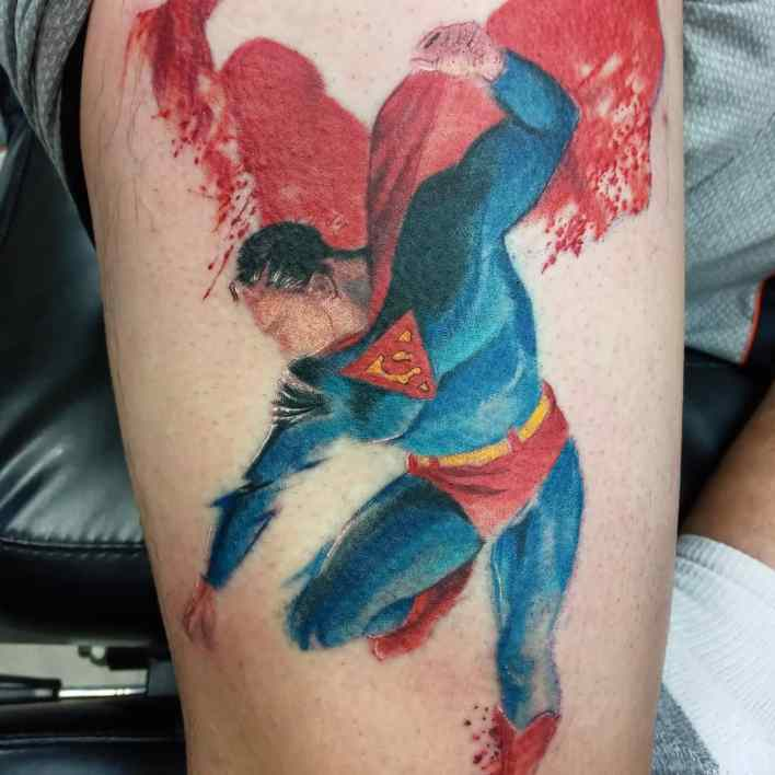Superman Leg Tattoo -oldheathen1