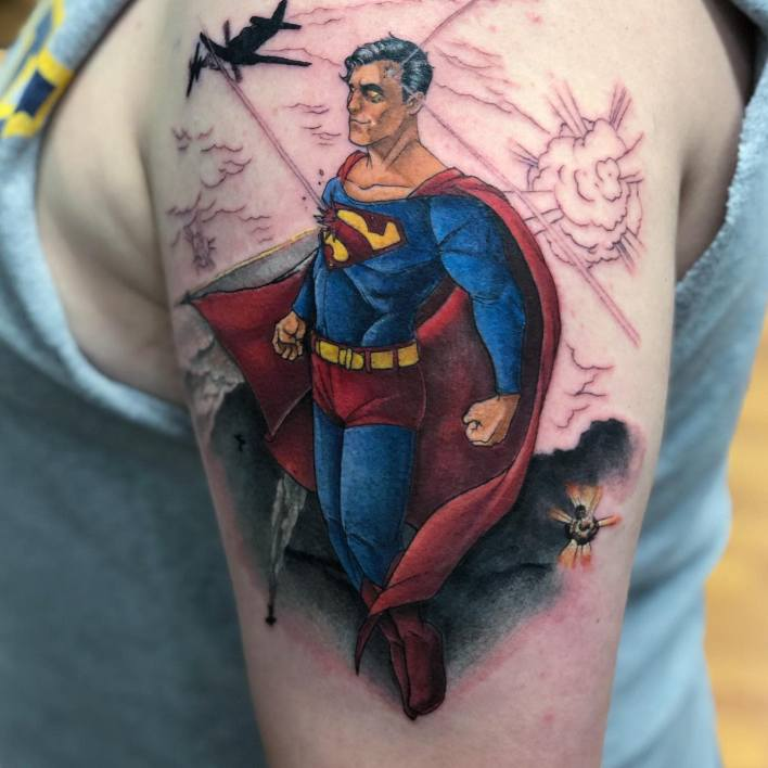 Superman Shoulder Tattoo -matthenegarart