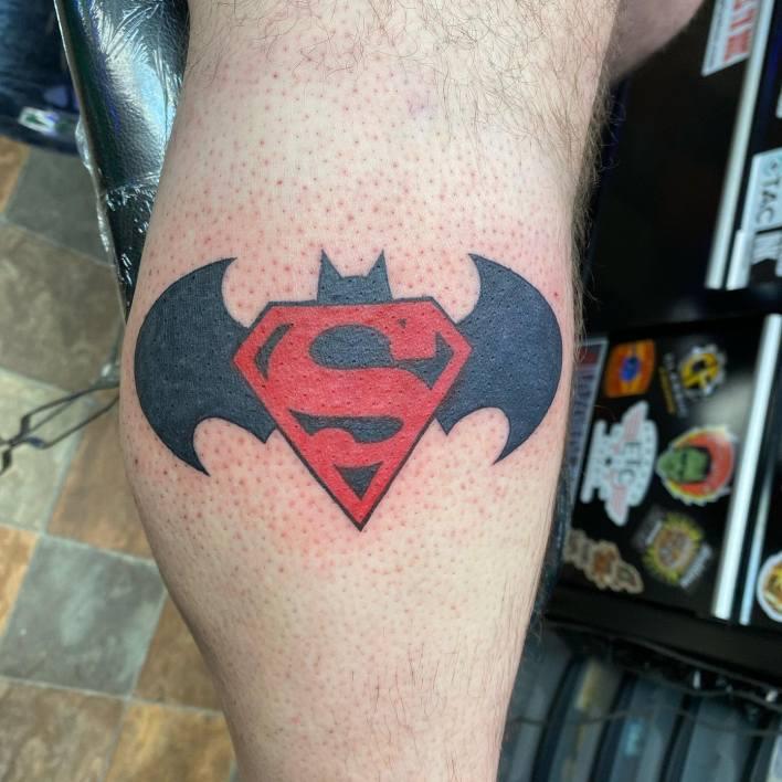 Batman Superman Tattoo -johnnybruh712