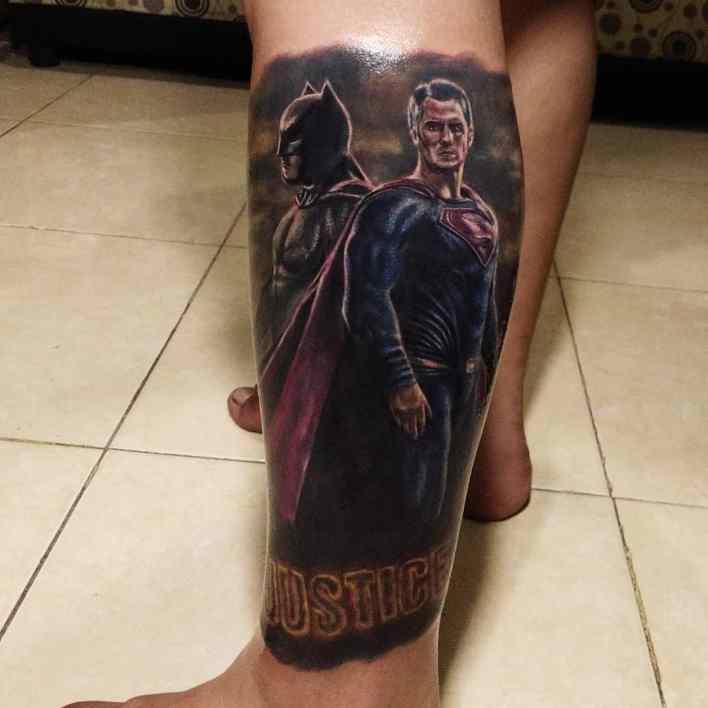 Batman Superman Tattoo -markezpinosa