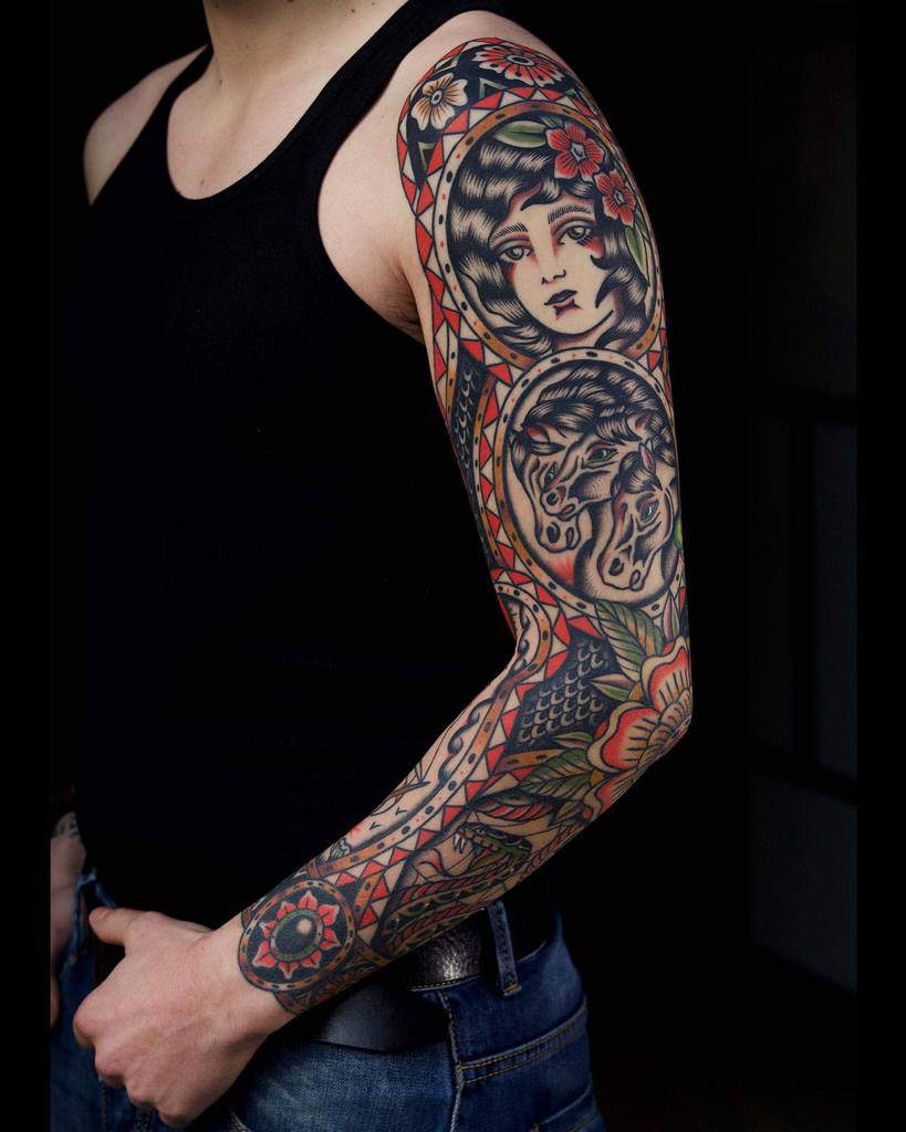 American Traditional Filler : american, traditional, filler, Tattoo, Sleeve, Filler, Ideas, [2021, Inspiration, Guide]