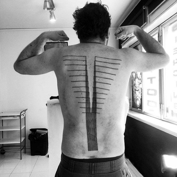 spine tattoos men - masculine