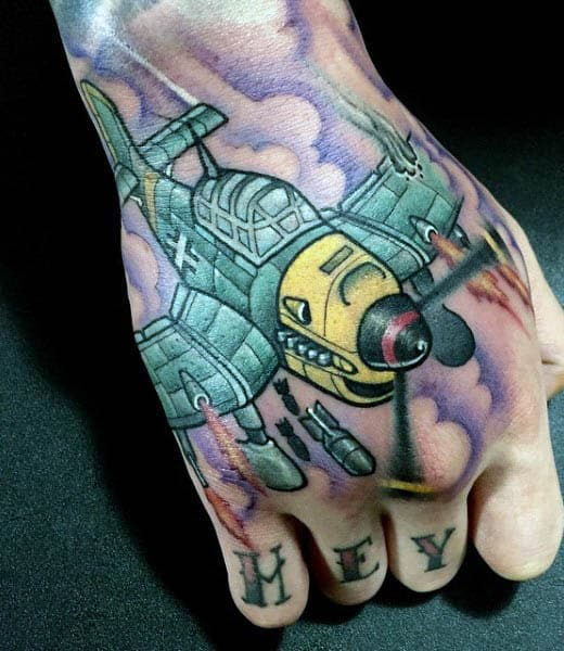 Airplane Tattoos For Women