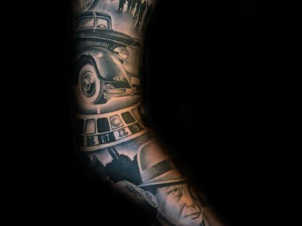 Gangster Hood Sleeve Tattoos For Men