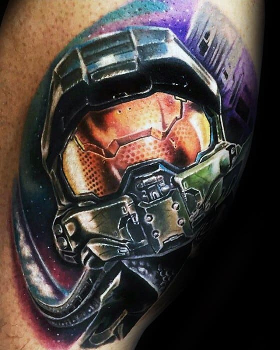 80 Gamer Tattoos For Men Video Game Design Ideas